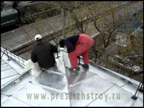Roofing: Seam roof.
