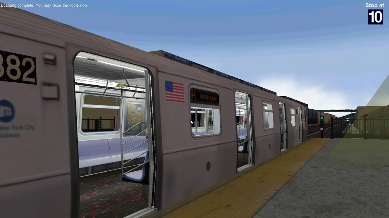 Openbve Hd R160 Siemens H Train Arriving And Departing Ozone Park Youtube