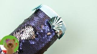 Sposoby na nudę | ozdabianie pudełka rybią łuską | świeczka z kredek woskowych