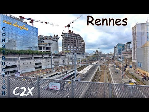 Station ; Place de la Gare en Travaux ; Rennes ; Bretagne ; France