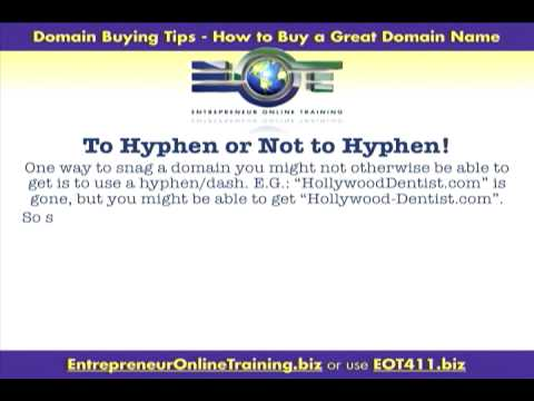 Domain Buying Tips 5.0 | To Hyphen Or Not To Hyphen