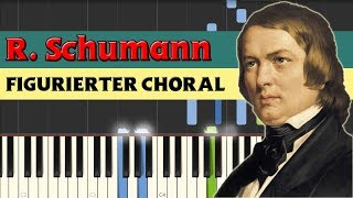 Figurierter Choral (Figured chorale) - Robert Schumann [Piano Tutorial] (Synthesia)