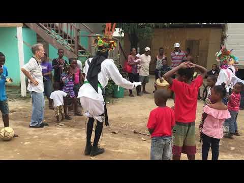 Locals dancing at