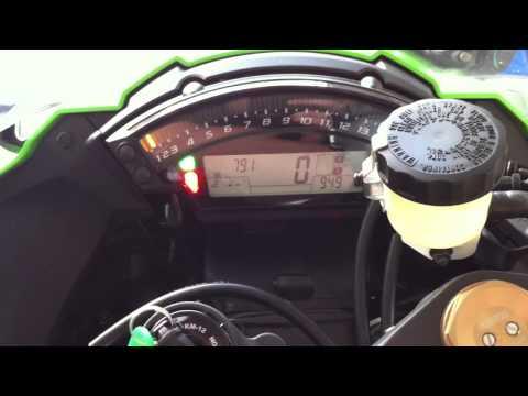 Zx Kawasaki Zx10r Dash Function And Start Up Alcoa Good Times