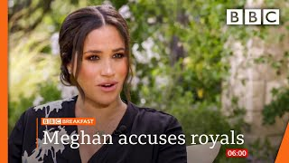 Meghan accuses royals of 'perpetuating falsehoods' in Oprah Winfrey interview teaser clip 🔴 BBC