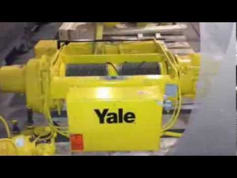 For Sale: 5 Ton Yale Electric Wire Rope Hoist Cable King 32\' Lift ...
