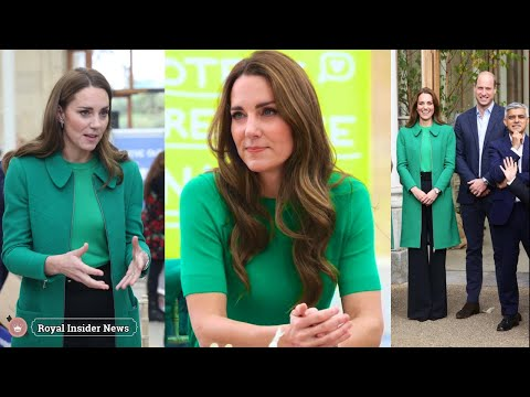 Duchess Kate Goes Green in Erdem With Prince William at Kew Gardens