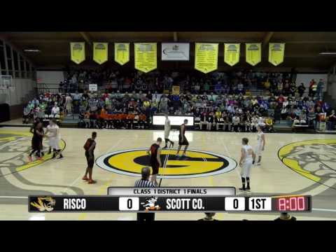 2017 Class 1 District 1 Finals - Scott Co. Central vs. Risco  2-23-17