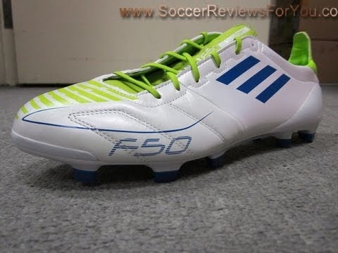c33da2f9a Adidas F50 Adizero TRX FG (Leather)-White Anodized Blue Slime FG - UNBOXING
