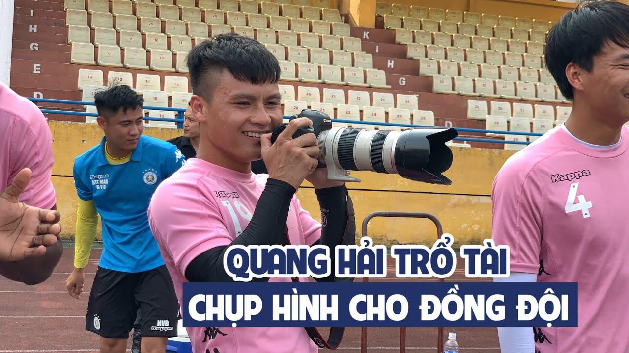 ĐỘC QUYỀN| Quang Hải trổ tài chụp hình, thành phẩm khiến các phóng viên phải bật cười