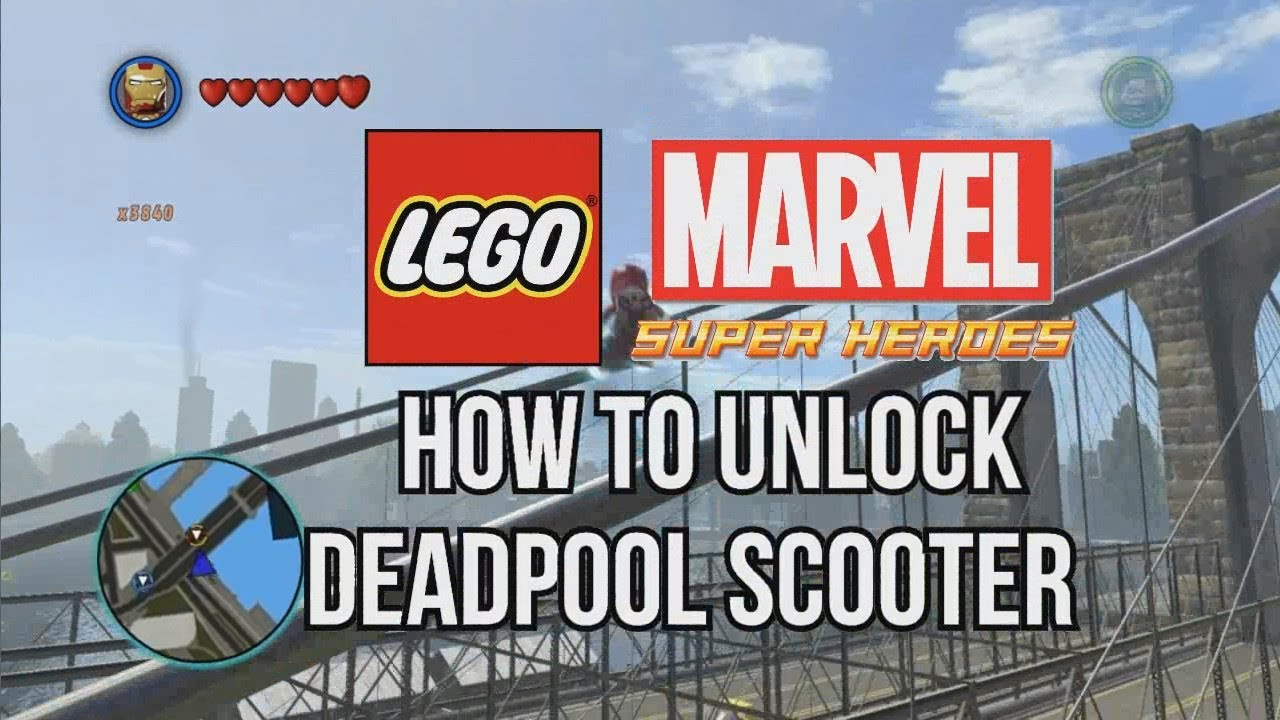 How to Unlock Deadpools Scooter  LEGO Marvel Super Heroes  YouTube