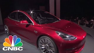Elon Musk Shows Off First Production Tesla Model 3 | CNBC
