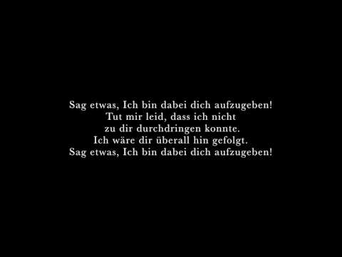 Say Something - Deutsche Übersetzung