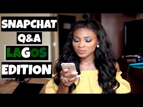 LAGOS IS SCARY, EXES, YORUBA BOYS, MISCONCEPTIONS, NANDOS OR WAGS | SNAPCHAT Q&A