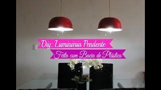DIY: COMO FAZER LUMINÁRIA PENDENTE PARA SALA DE JANTAR | Carla Oliveira
