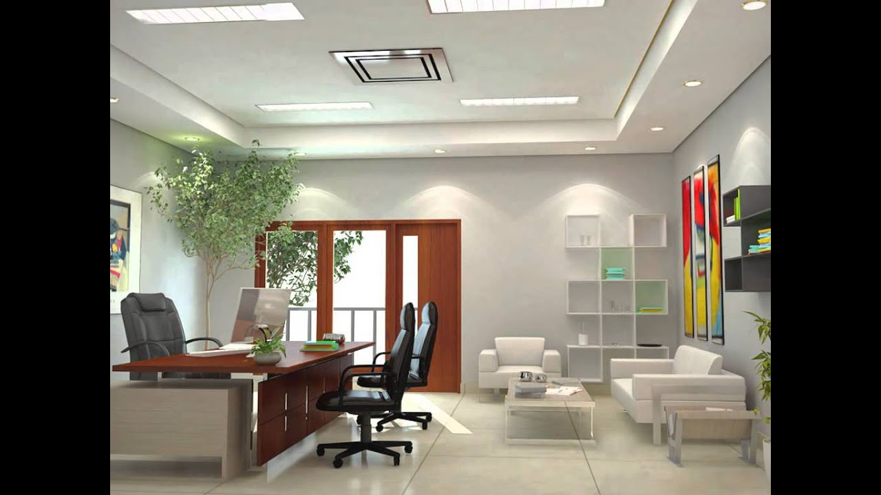 Design Ceiling Office Interior Review - YouTube