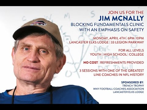 Jim McNally Run Blocking Clinic Part 1 of 2