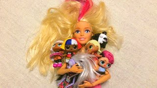 Rapunzel Rescues Falling LoL Dolls Enchantimals Dolls and Toy Cat - Toys Moys