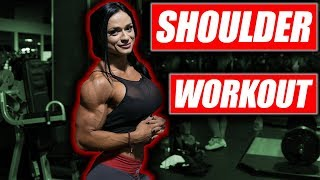Delt Workout for huge shoulders with Ivana Ivusic Olympia weekend 2017
