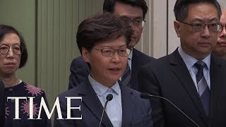 Hong Kong's Leader Offers No Solutions After Night Of Violence | TIME
