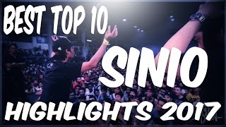 FlipTop - Sinio Best Top 10 Battle (2017 Compilation)