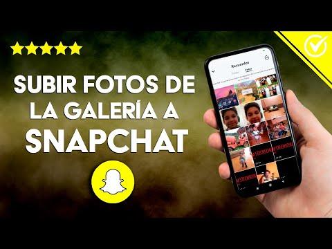 Cómo Subir Fotos del Carrete o la Galería a Snapchat en Android e iPhone