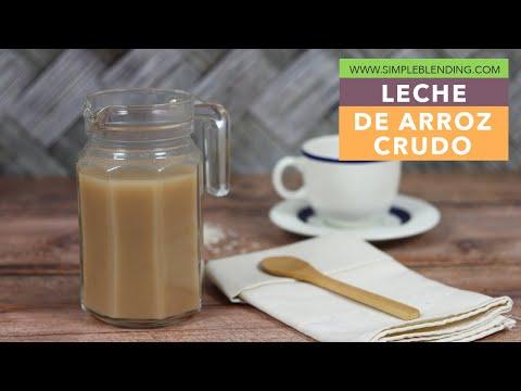 Leche de arroz crudo | Bebida vegetal de arroz | Receta casera