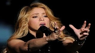 Shakira Performs To Her New Song