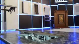 Напольный люк под плитку на электроприводе(Напольный люк на электроприводе - это украинская разработка ТМ Евролюки - люки, которых не видно... Пульт..., 2013-07-10T09:49:58.000Z)