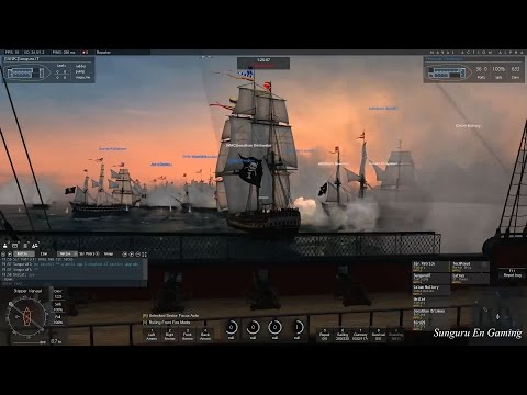 Naval Action] British Santissima Rear Admiral Fleet Mission with 7 players | Aug 20, 2016