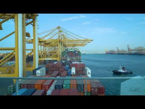 Cargo Vessel shifting at Jebel Ali Port | Dubai Port | Raika