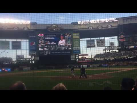 Ryan Braun last possible at bat as a Brewer at Miller Park