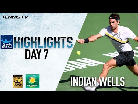 Highlights: Federer, Del Potro Make 2018 Indian Wells QF