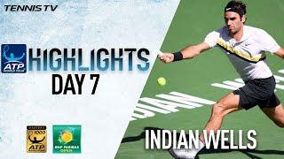 Highlights: Federer, Del Potro Make 2018 Indian Wells QF