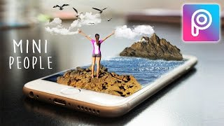 Cara Edit Artistic Miniature Photo di Picsart Android dan iOS