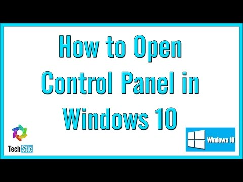 how to open control panel in win 10