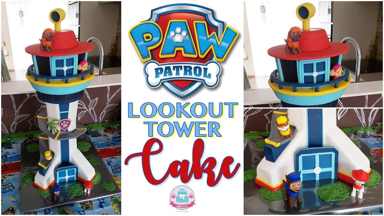 How To Make Paw Patrol Tower Cake