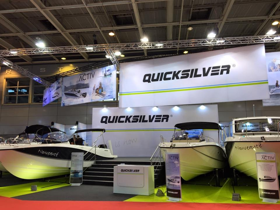 Quicksilver at nautic paris 2015 youtube for Salon du x paris 2017