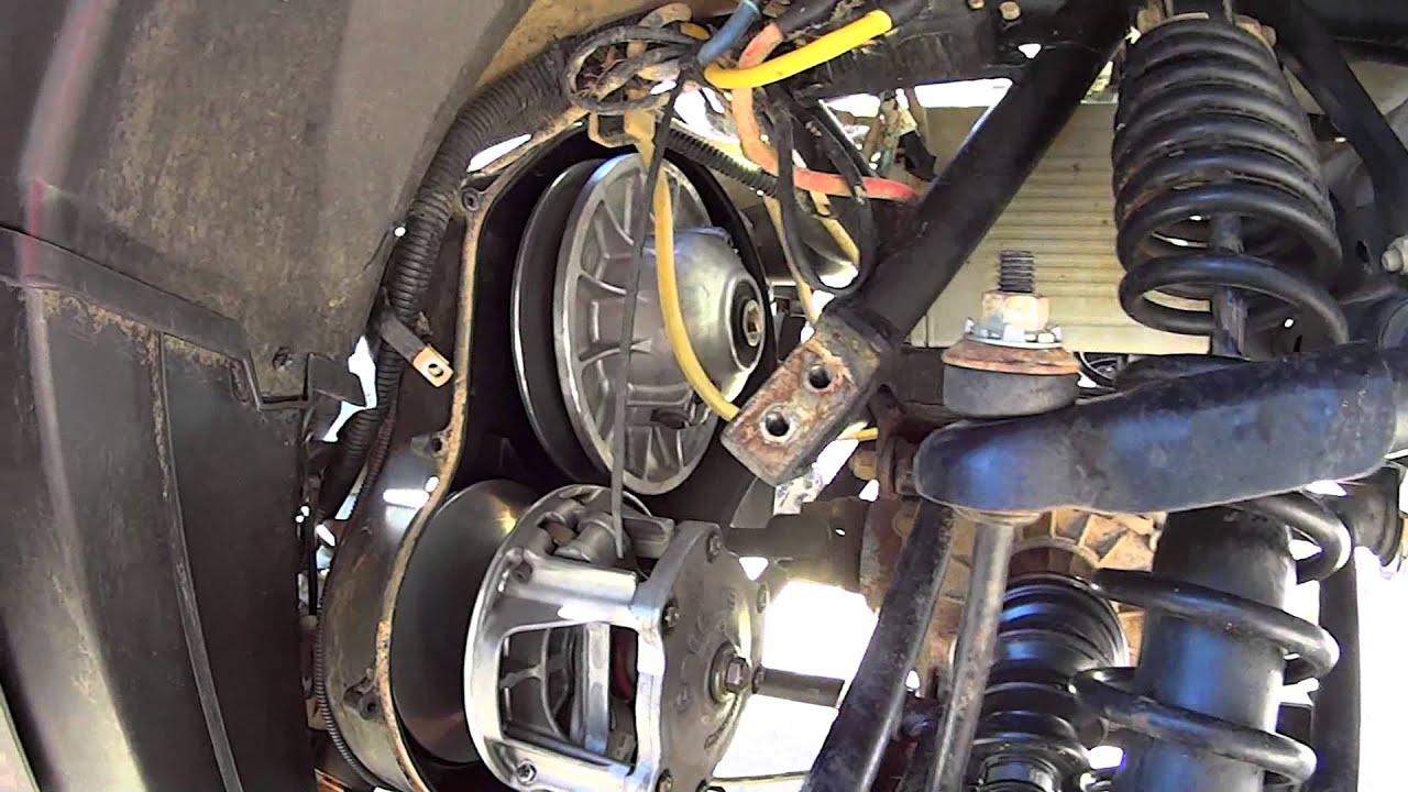 Polaris Sportsman 850 XP Belt Change - YouTube