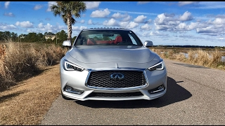 2017 infiniti q60 red sport 400 sunny exterior and cabin walkaround