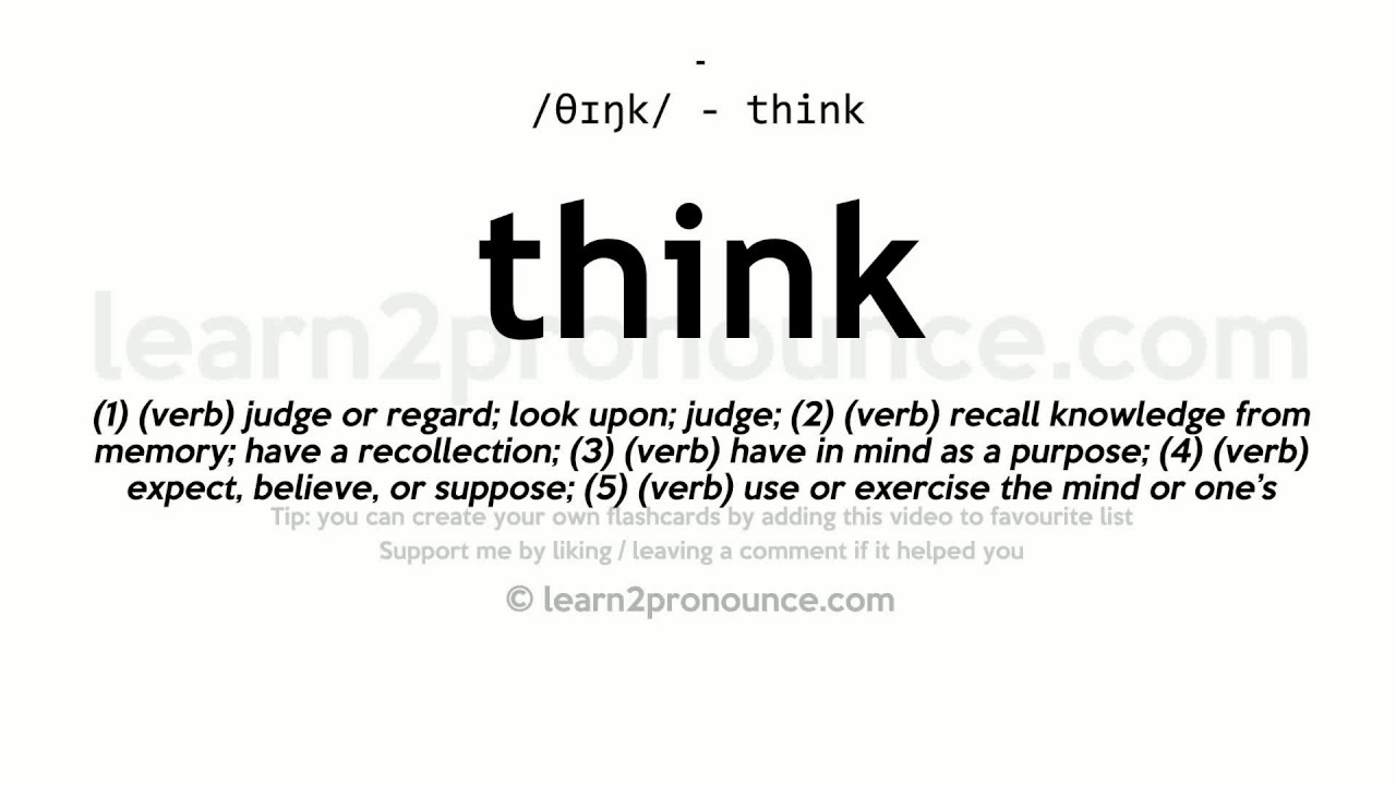 Exceptional Think Pronunciation And Definition