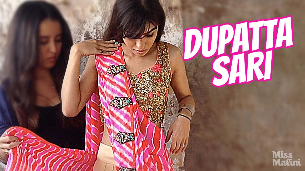 How To Drape A Dupatta Sari Youtube