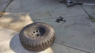 How to Rotate Your Car's Tires for Beginners (Jeep TJ) (5 Tire Rotation)