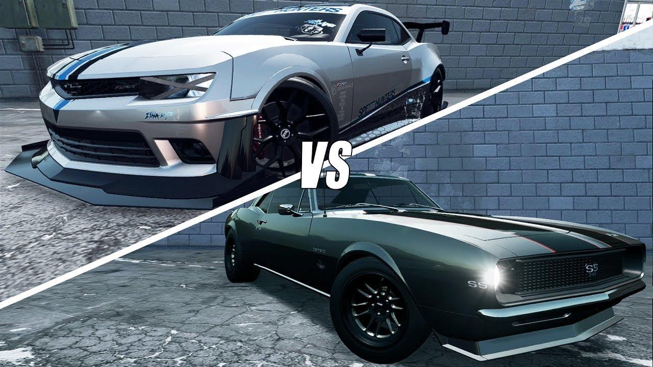 Need For Speed Payback Old Vs New Camaro Vs Camaro Build Youtube
