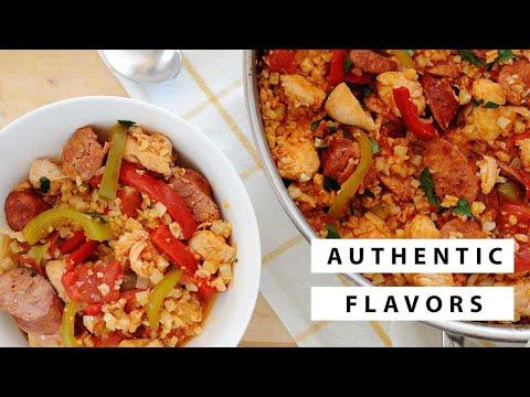 Keto Jambalaya with Cauliflower Rice