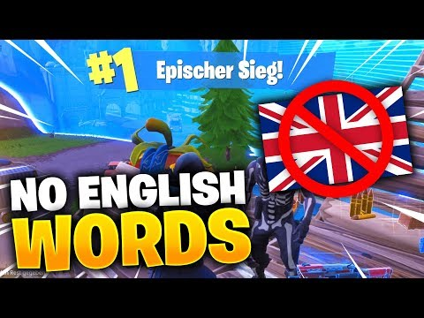 NO ENGLISH WORDS Challenge In FORTNITE