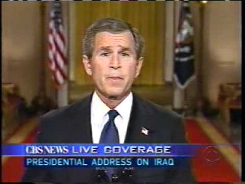 BUSH Ultimatum 2003 Saddam Hussein IRAQ CBS NEWS
