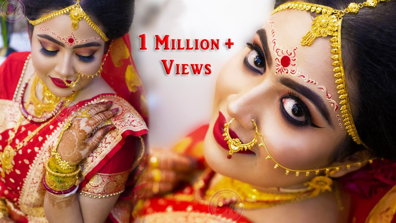 traditional bengali bridal makeup || step-by-step || mayuri sinha sarkar