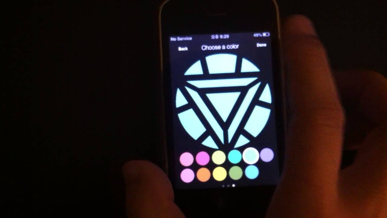 How To Set Live Wallpaper On Iphone Se Iphone Avenger Ironman Arc Reactor App For Halloween