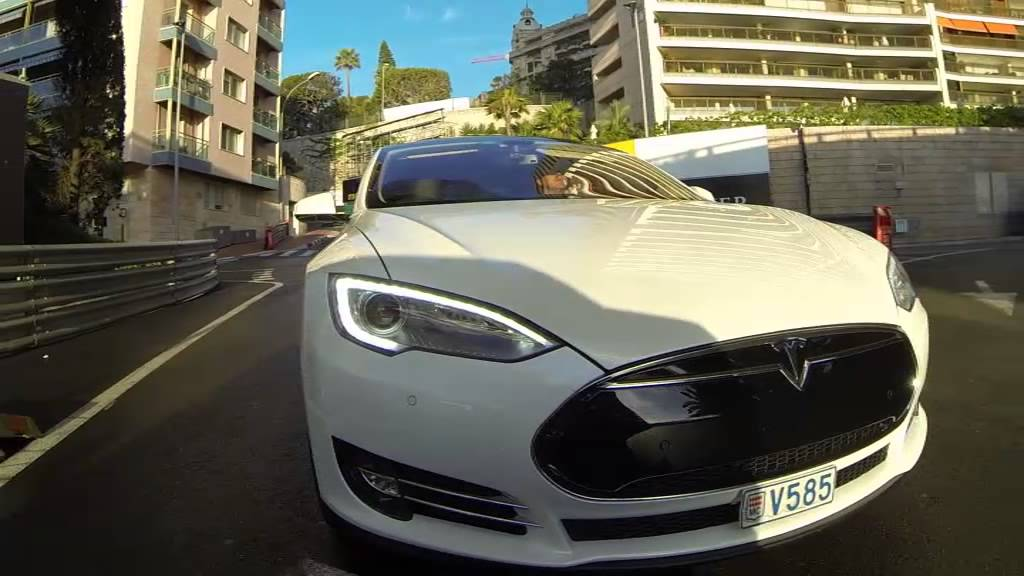 tesla model s on monaco formula one grand prix track monte carlo limousine tours youtube. Black Bedroom Furniture Sets. Home Design Ideas